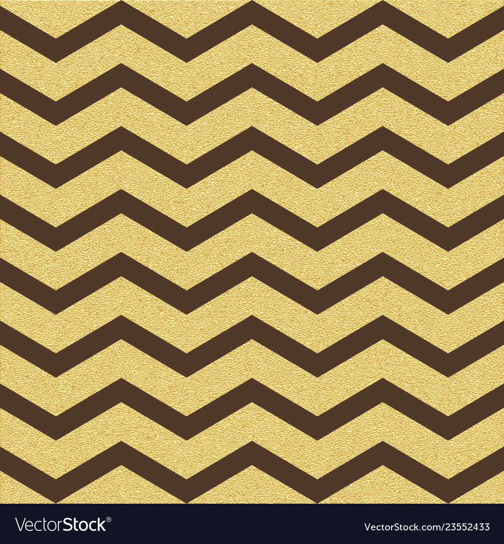 Gold glittering chevron wave seamless pattern