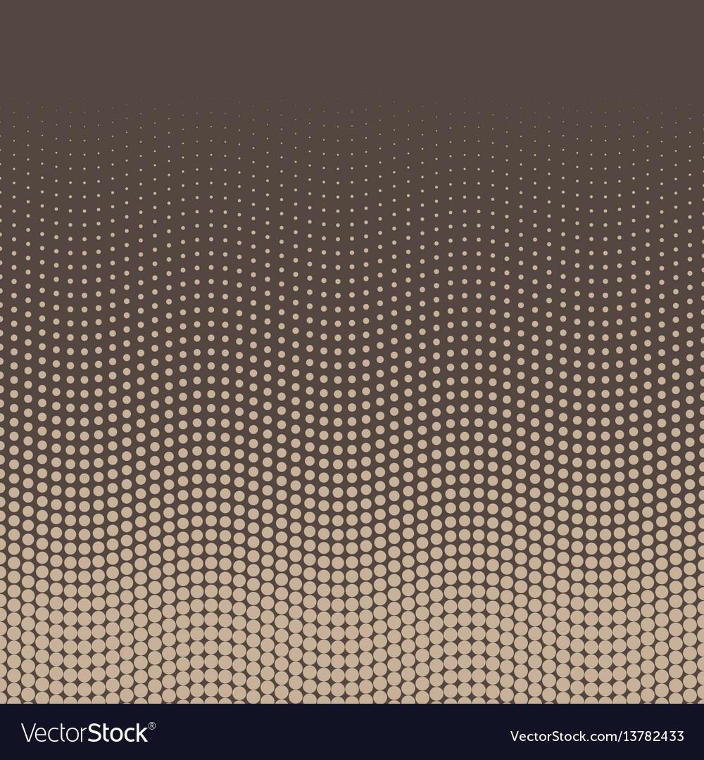 Halftone background of dots in wavy arrangement vector image