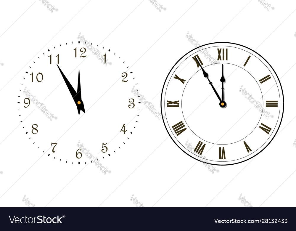 Happy new year 2020 black clock arrows isolated