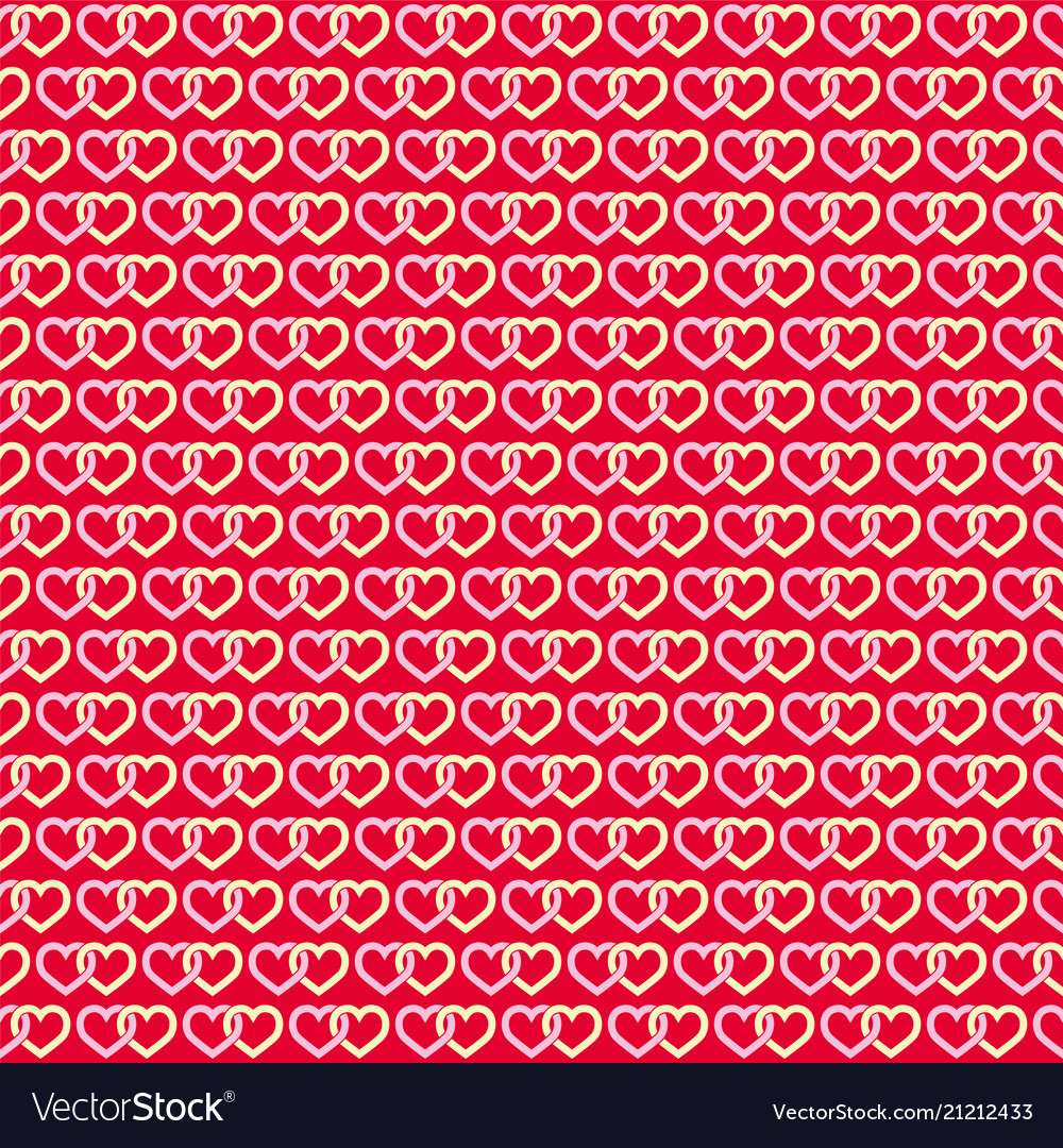 Hearts linked background seamless