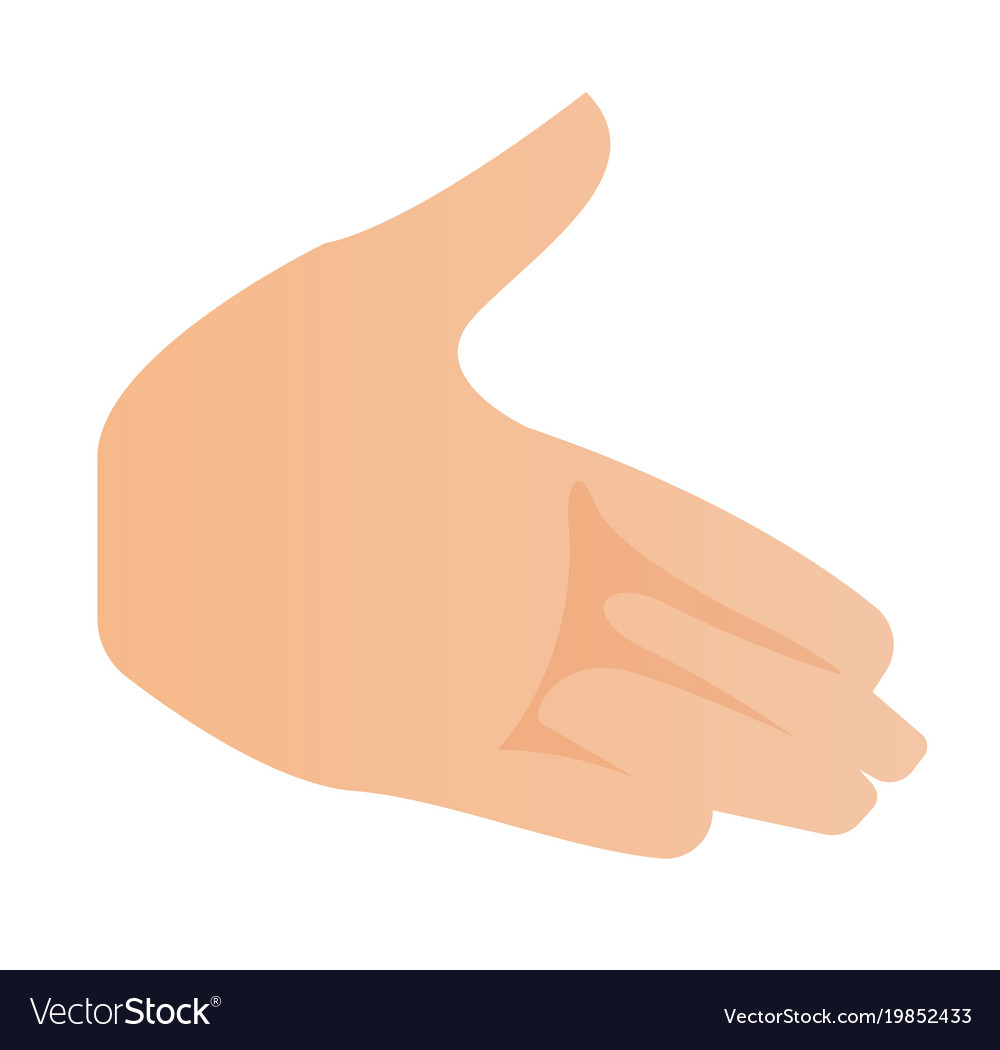 Left palm hand cartoon