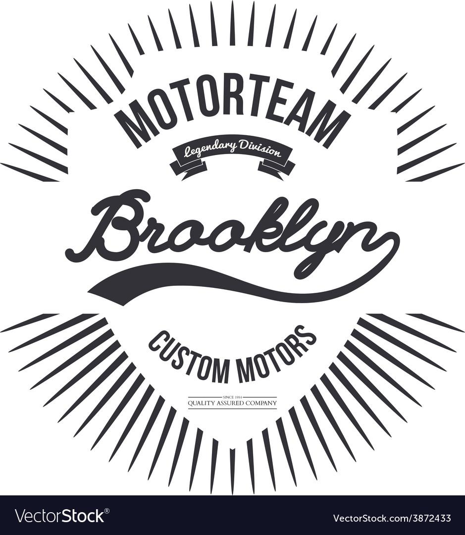 Motorteam Brooklyn T-shirt graphic Royalty Free Vector Image 53c53d60cdf