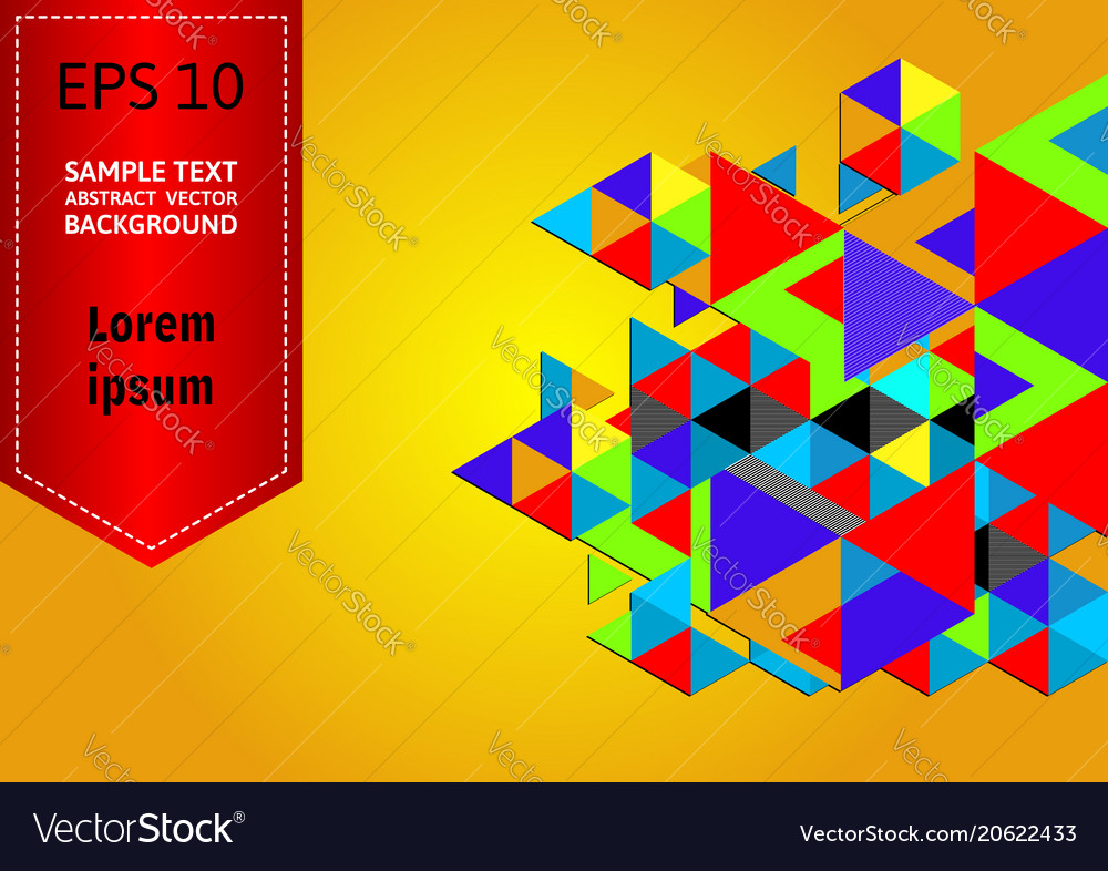 Multicolored geometric abstract background with