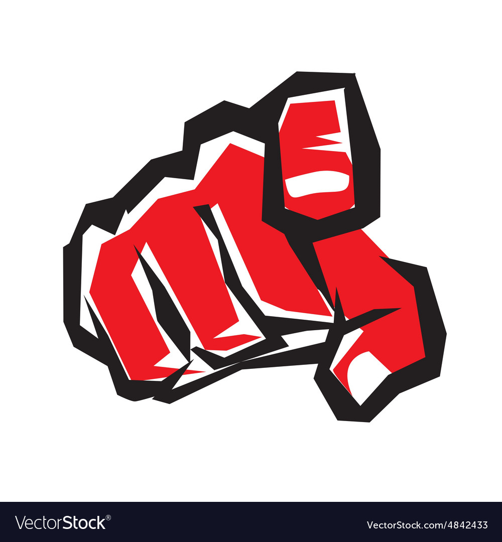 Pointing finger or hand pointing symbol stylized
