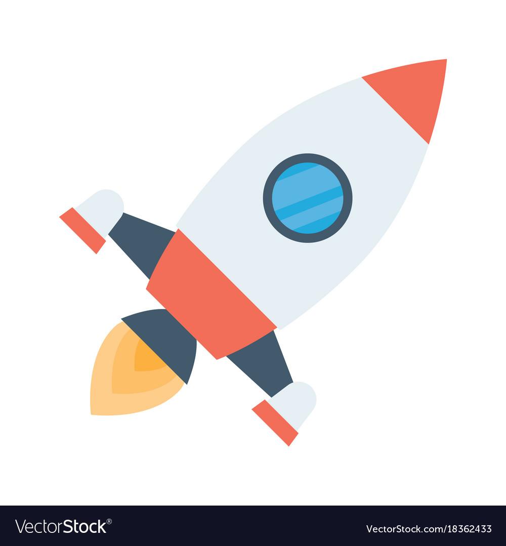 Rocket space ship take off