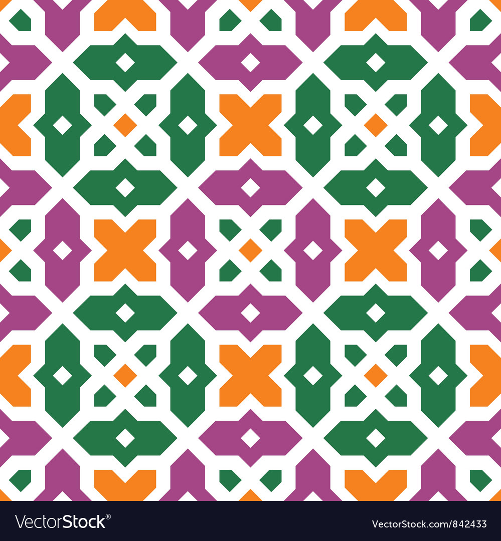Traditional floral islamic ornament vector