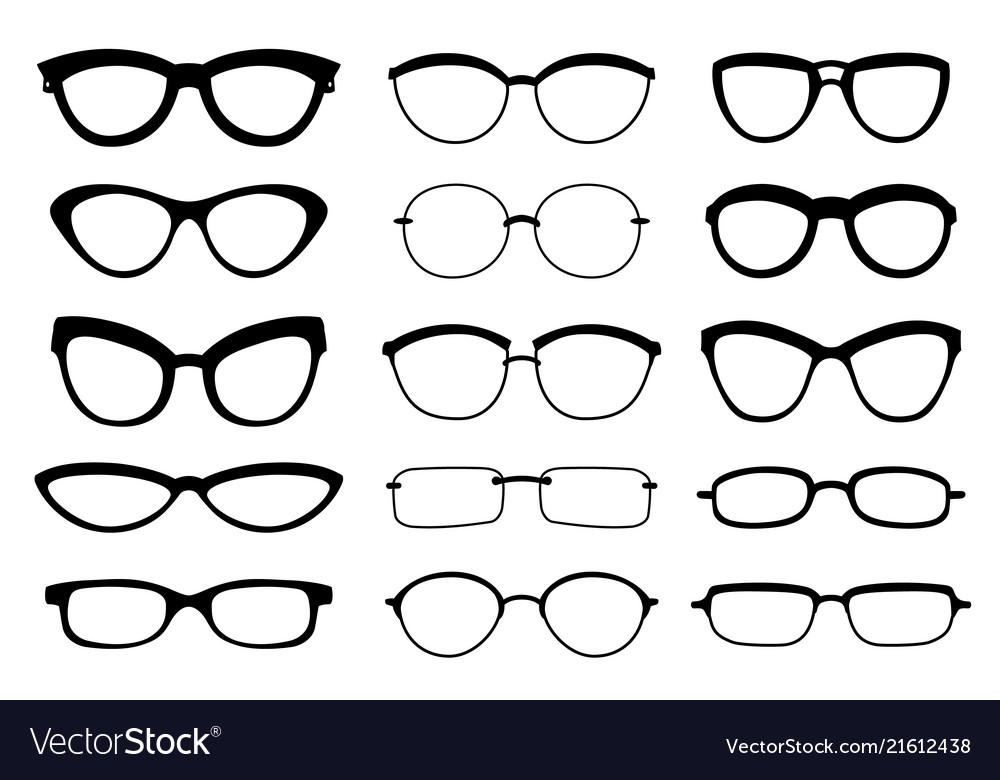 A set of glasses isolated glasses model