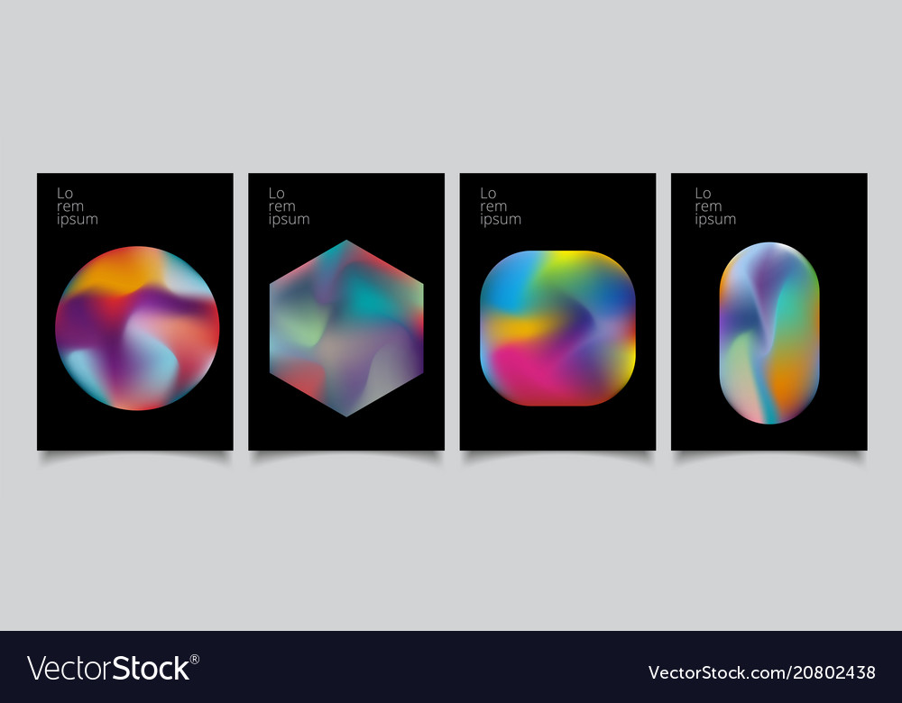 Abstract geometric modern colorful gradient