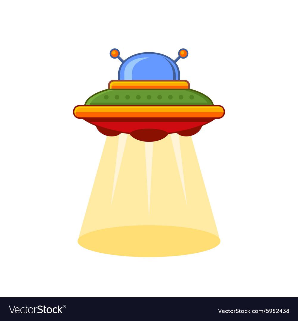 Cartoon Style UFO Icon