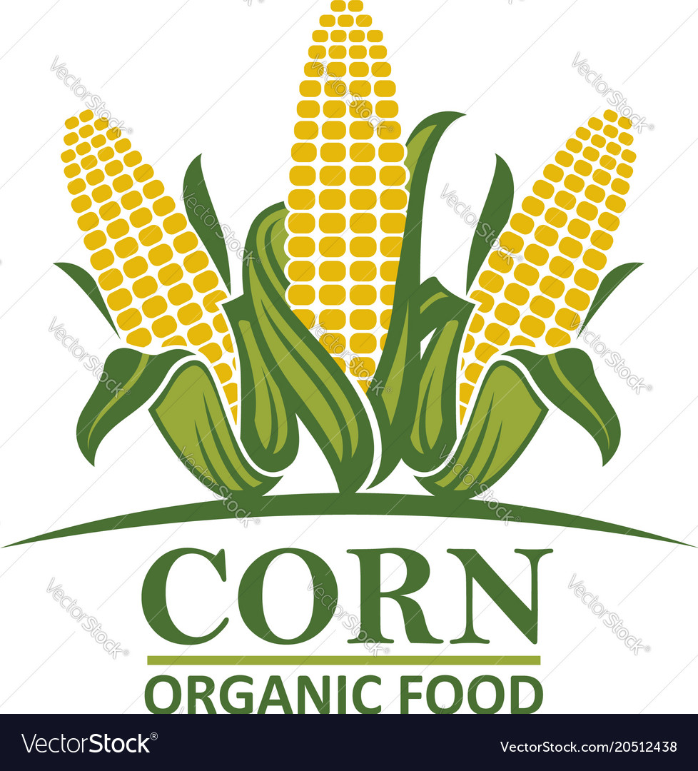 Corn vegetable emblem