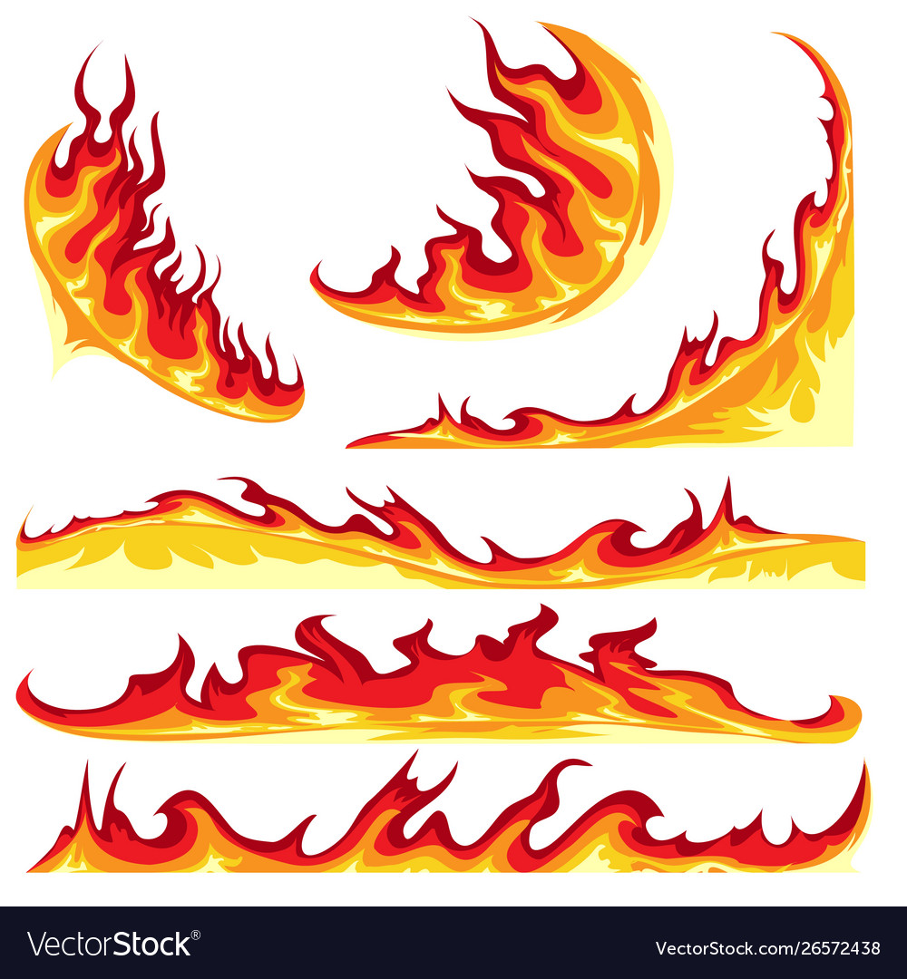 Fire flame emblem set