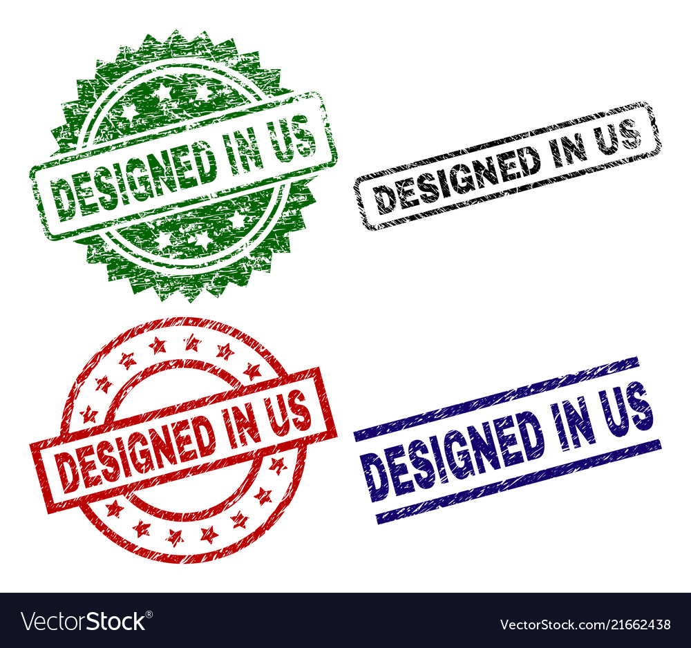Grunge textured designed in us seal stamps