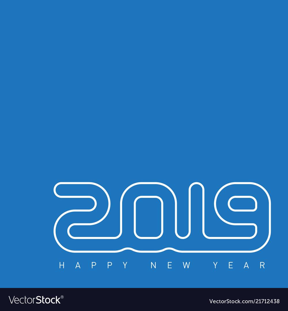 Happy new year 2019 creative greeting card design