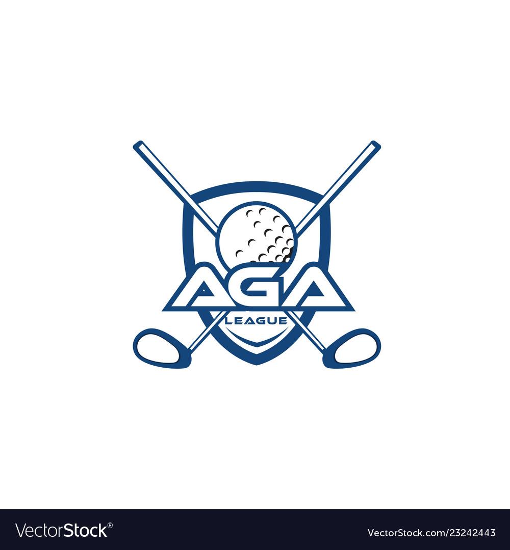 Golf team logo template