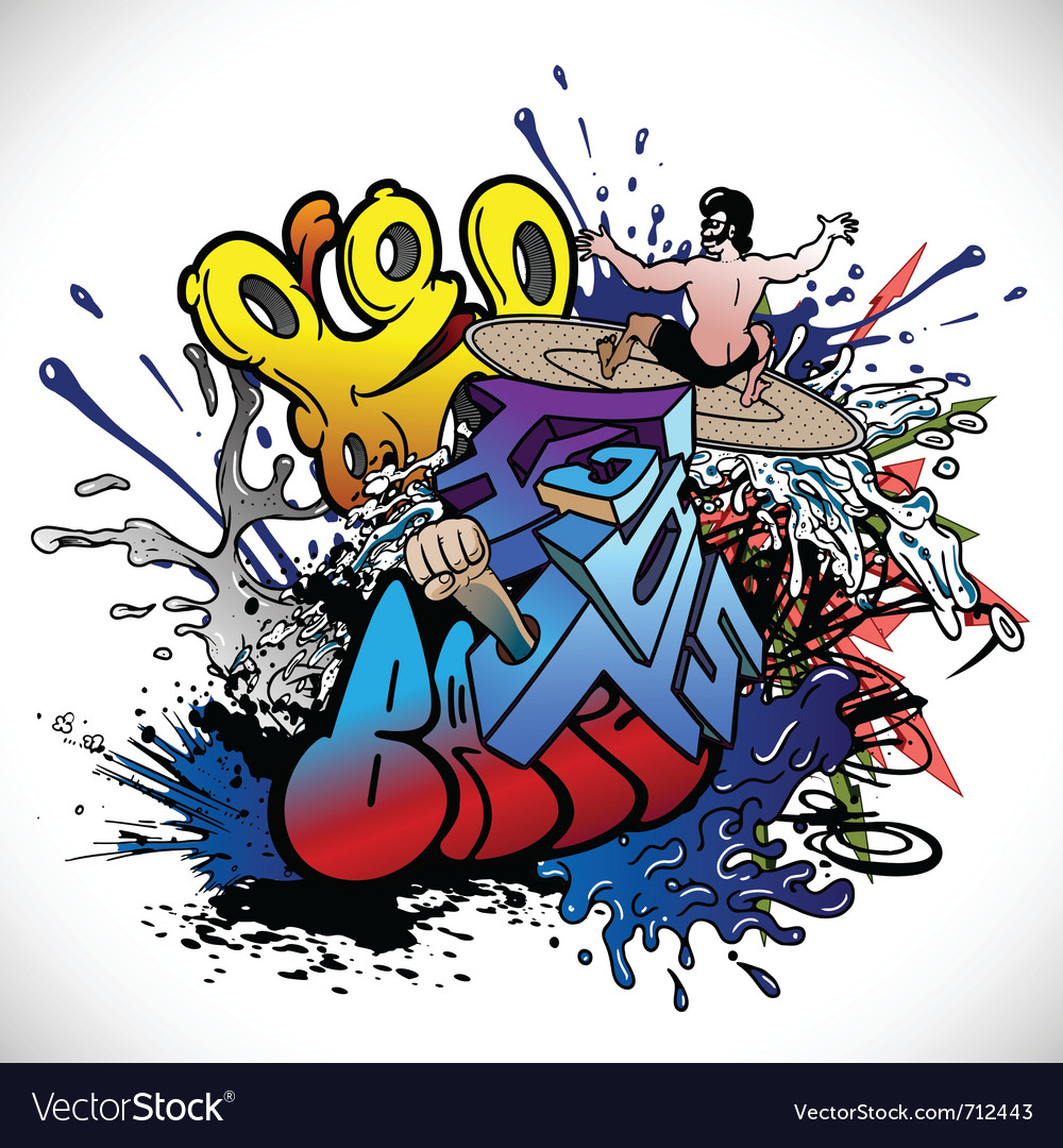 graffiti royalty free vector image vectorstock rh vectorstock com graffiti vector alphabet graffiti vector art