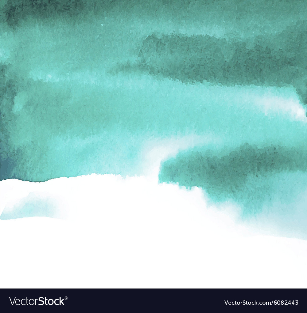 Green blue spot watercolor vector image