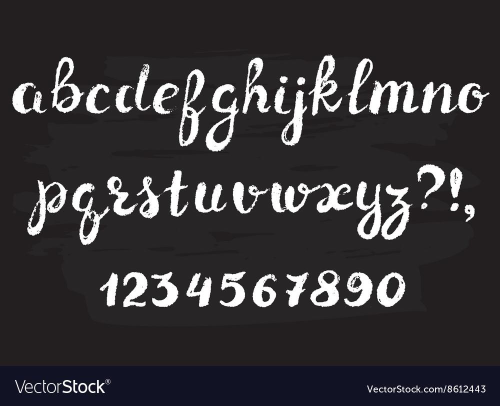 Handwritten chalked alphabet vector image