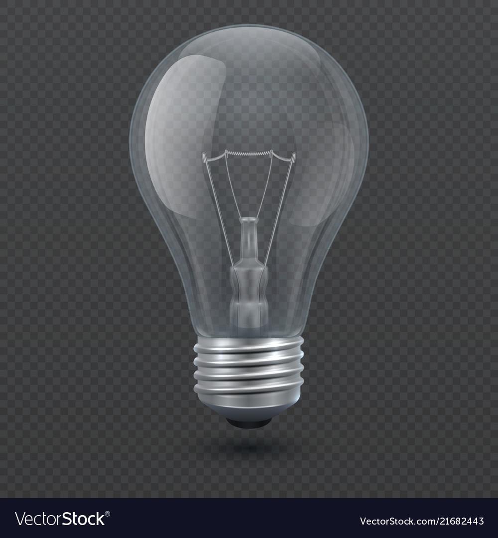 Realistic 3d light bulb