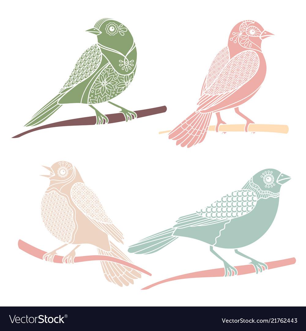 Vintage decorative birds