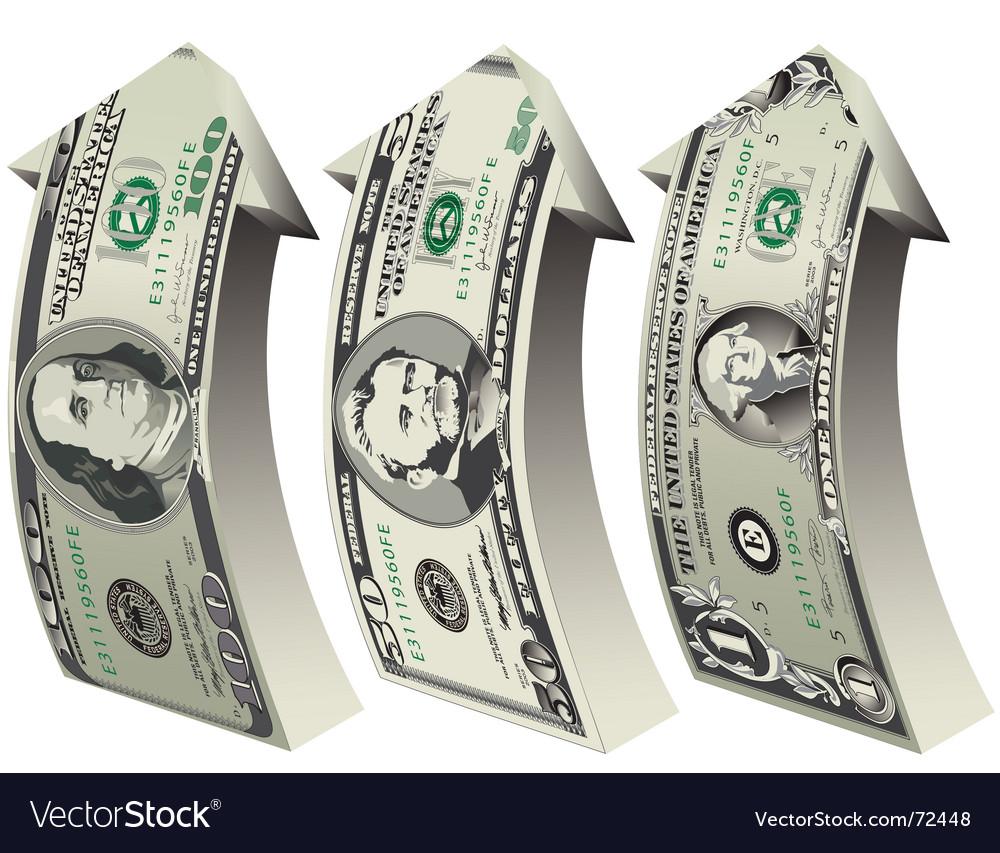 Arrow bills vector image
