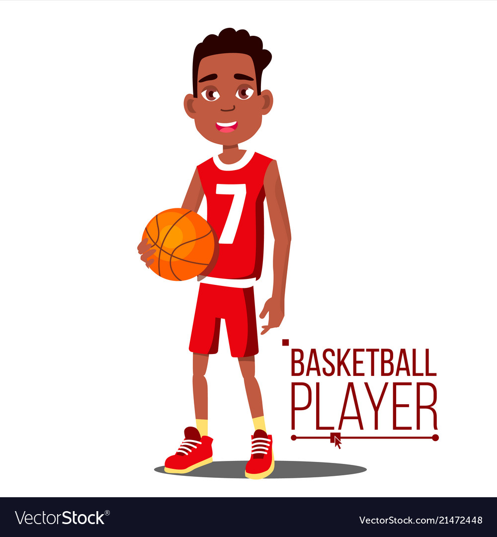 Basketball player child afro american