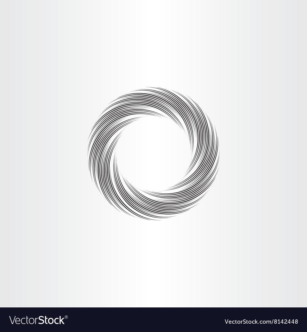 Black circle wave background design element