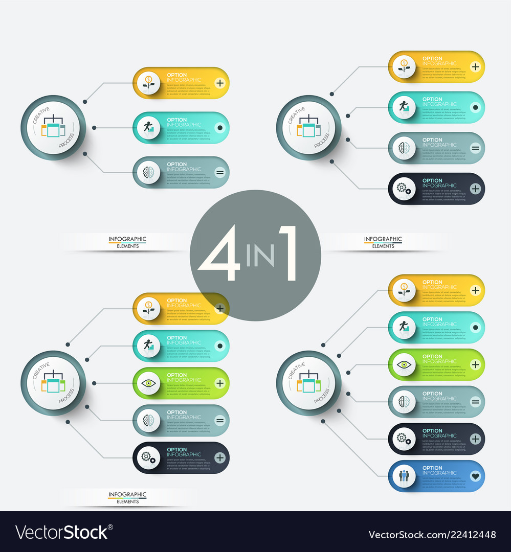 Colorful infographic design templates