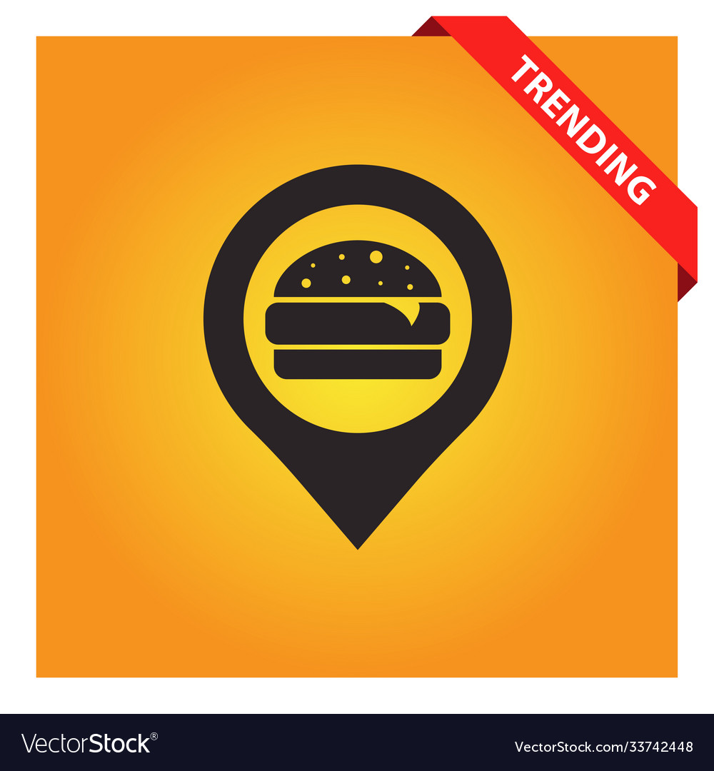Fast food with pin icon