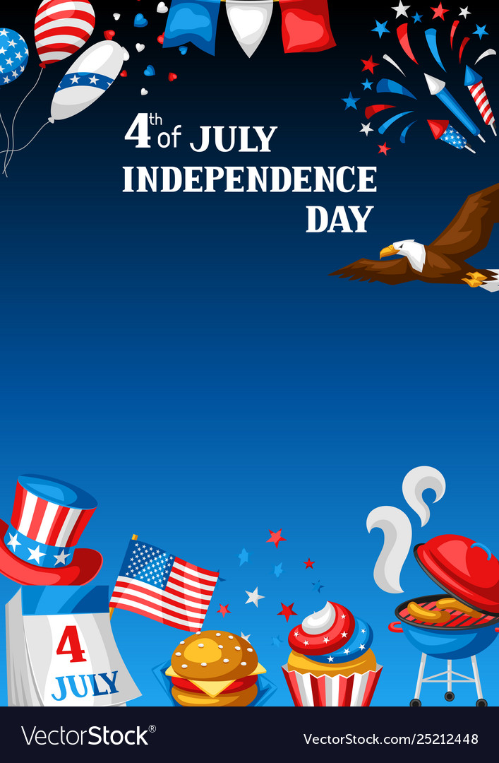 Fourth july independence day greeting card