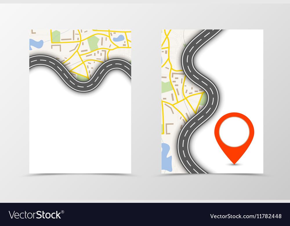 Front and back navigation flyer template design vector image