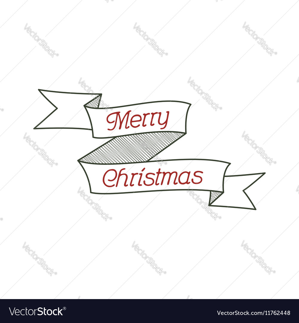 Happy Christmas typography wish sign