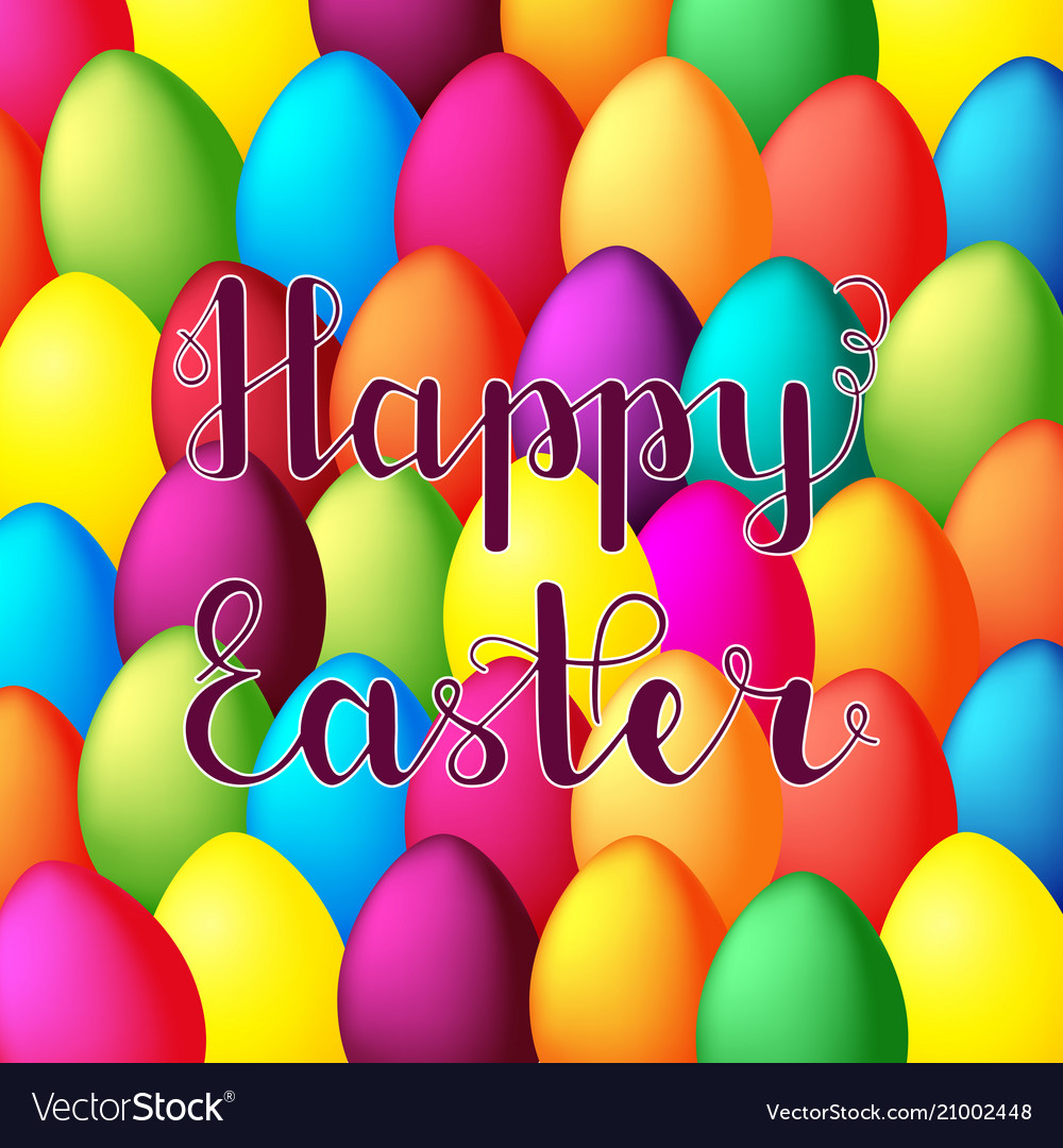 Happy easter card happy easter lettering on
