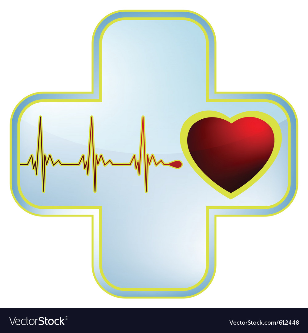 Heart and healthcare symbol