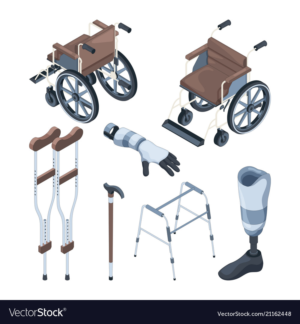 Isometric of wheelchair and other