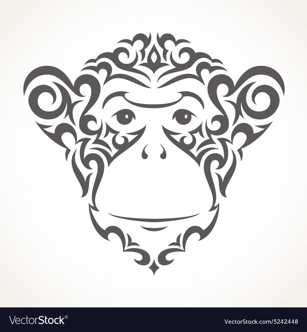 0e7a5a518b28d Monkey, Year & Tribal Vector Images (32)