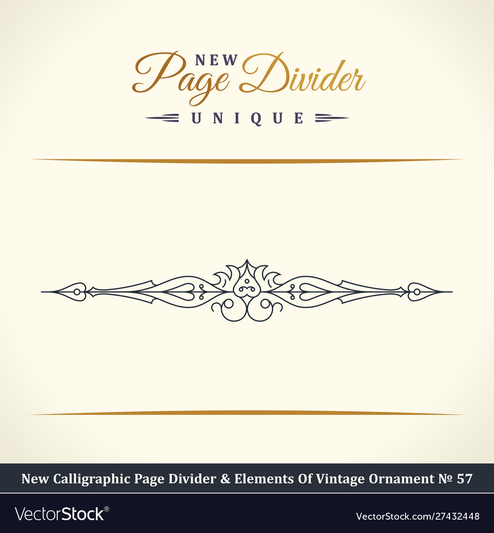 New calligraphic page dividers and elements of