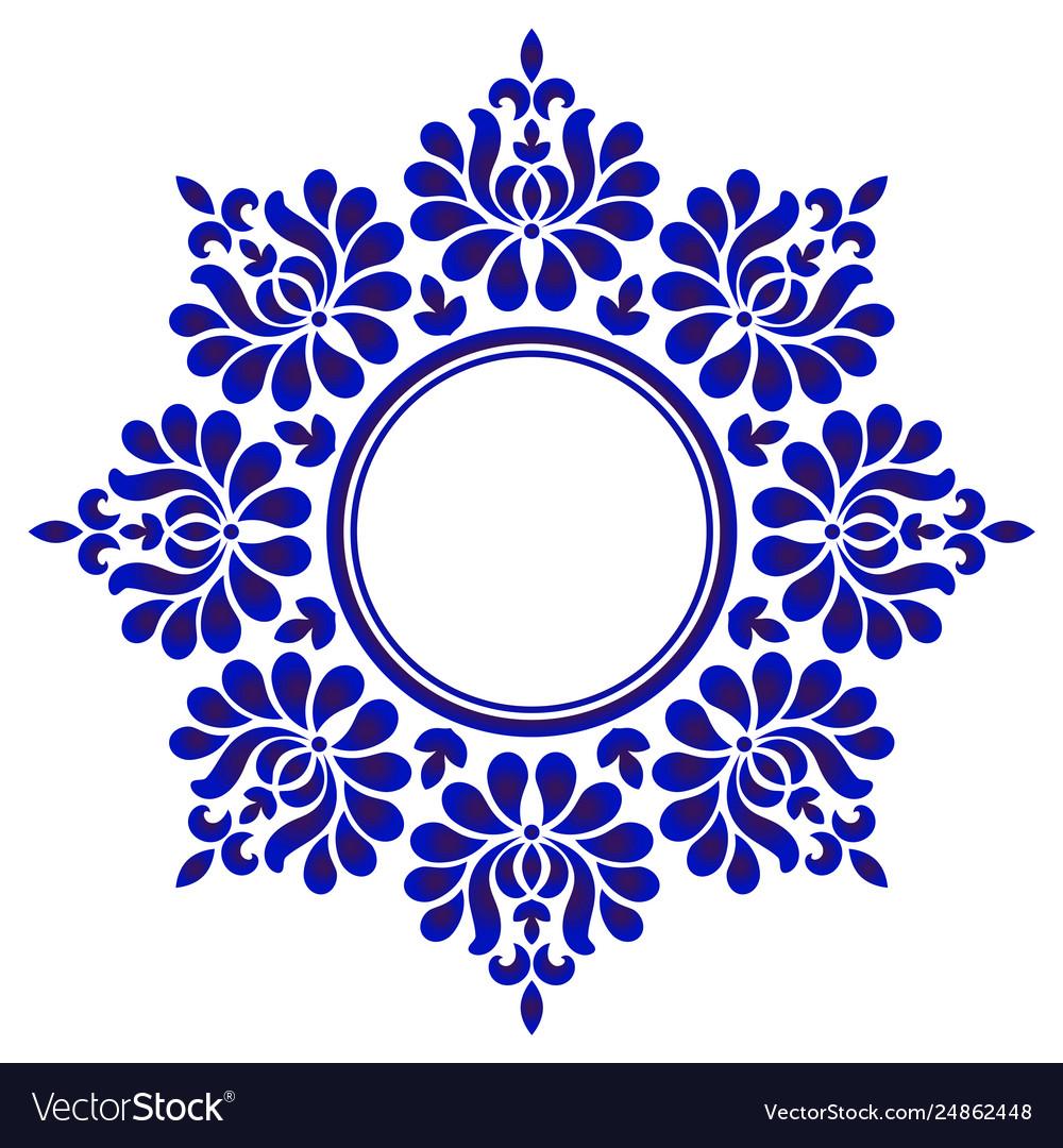 Porcelain floral round