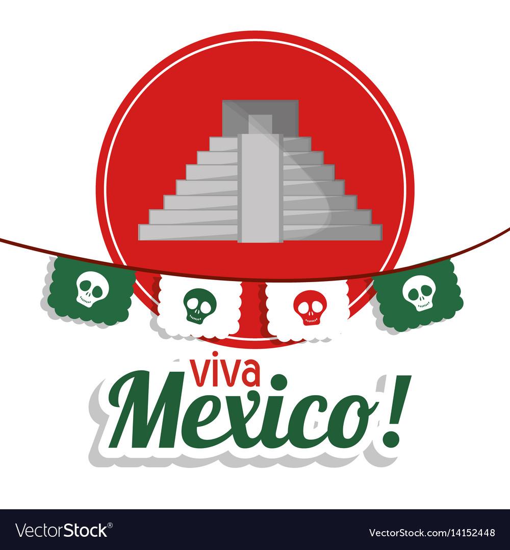 Viva mexico - pyramid festival poster