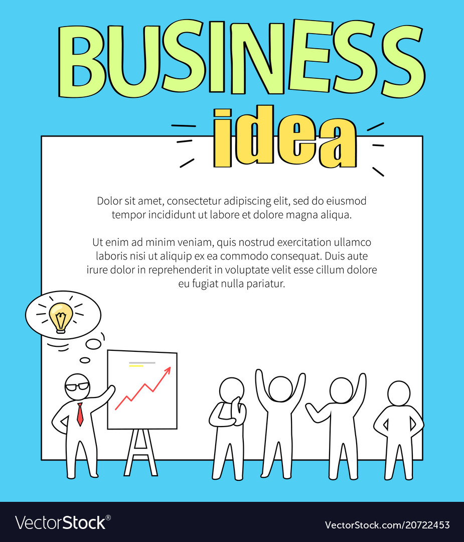 Business idea with text on
