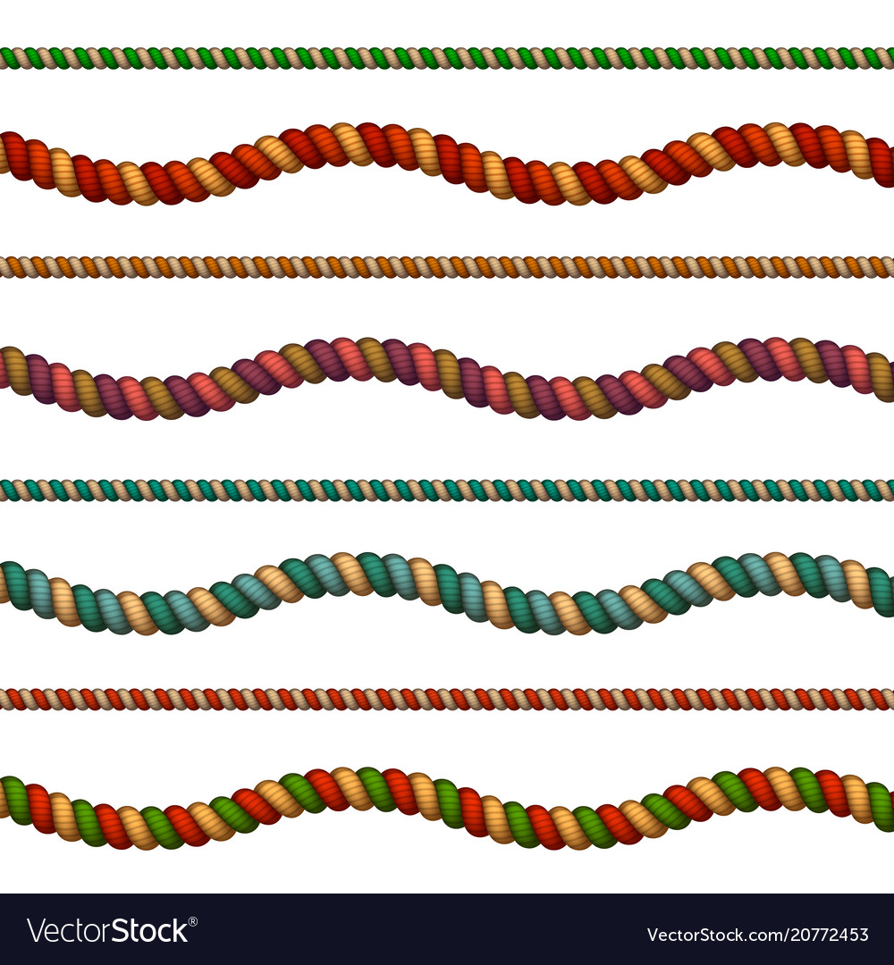 Colorful ropes set