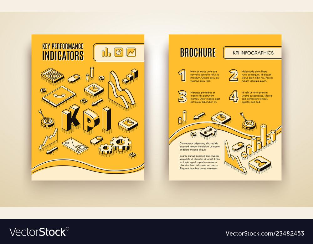 Company kpi analysis brochure template