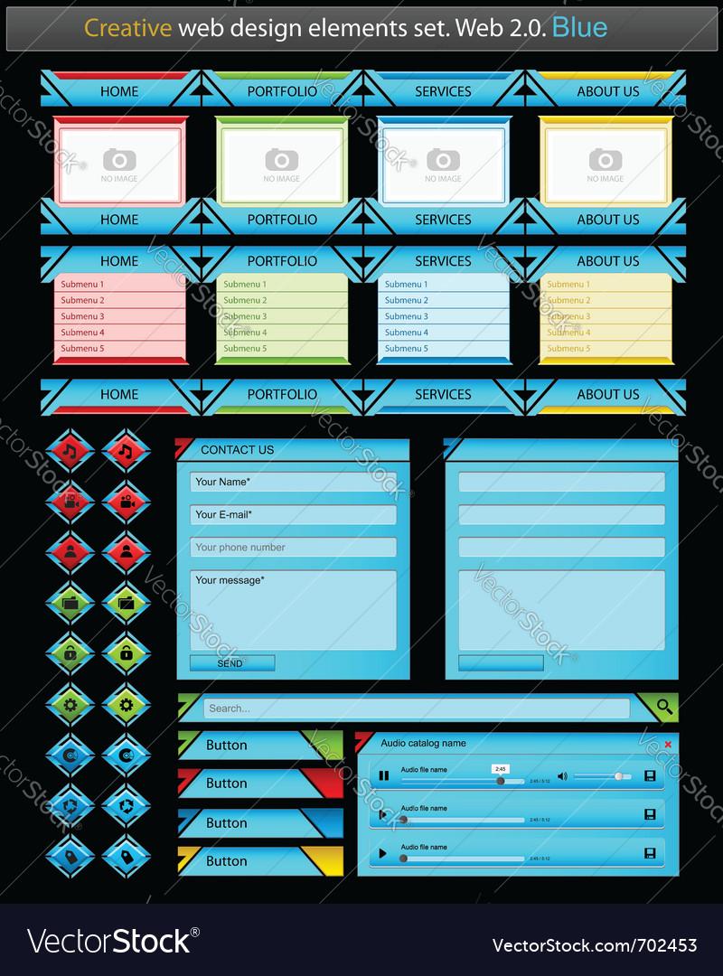 Creative web design elements set