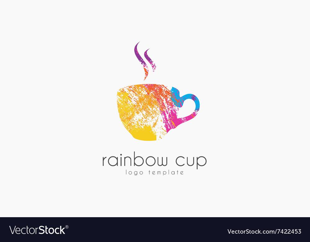 Cup logo Creative logo Rainbow cup logo Company