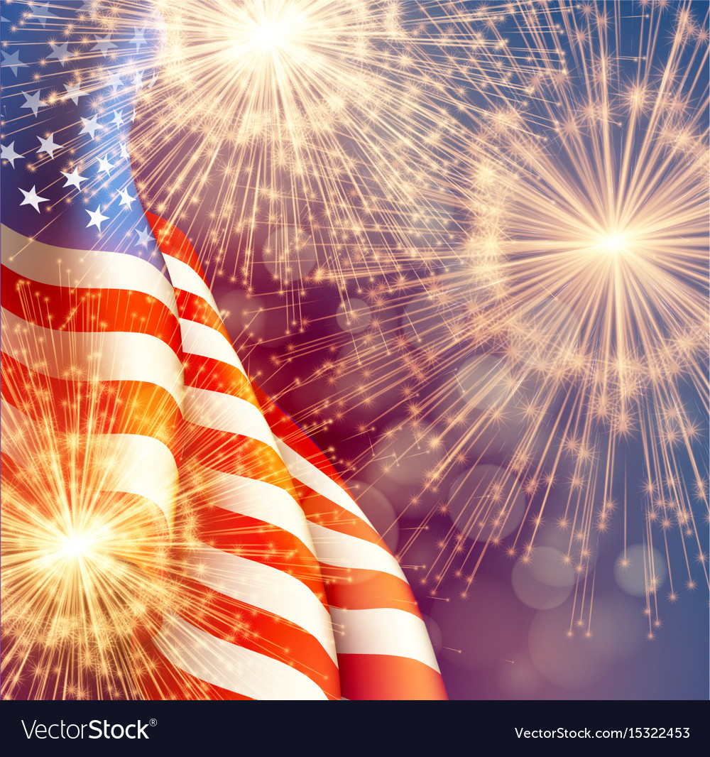 Fireworks background for 4th of july independense