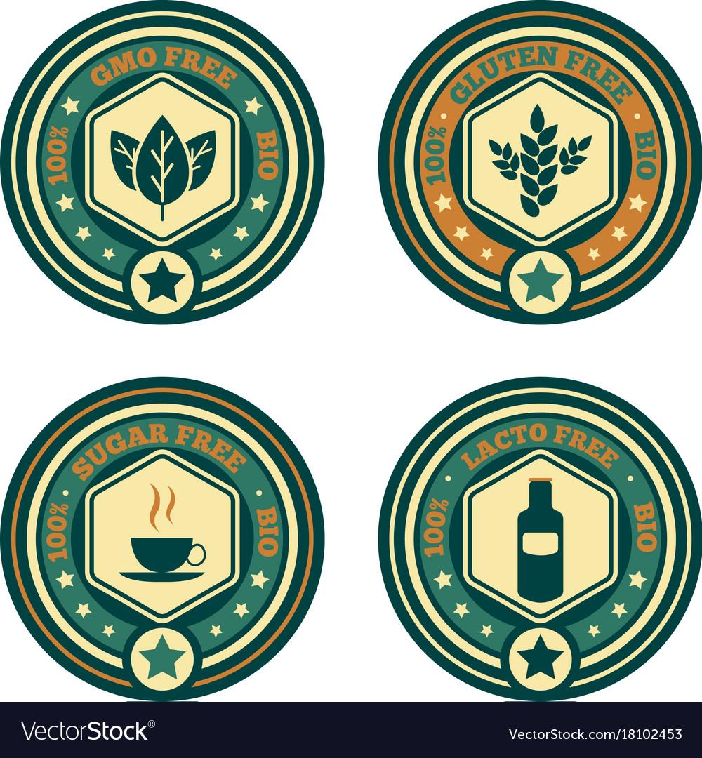 Food stamps set vector image