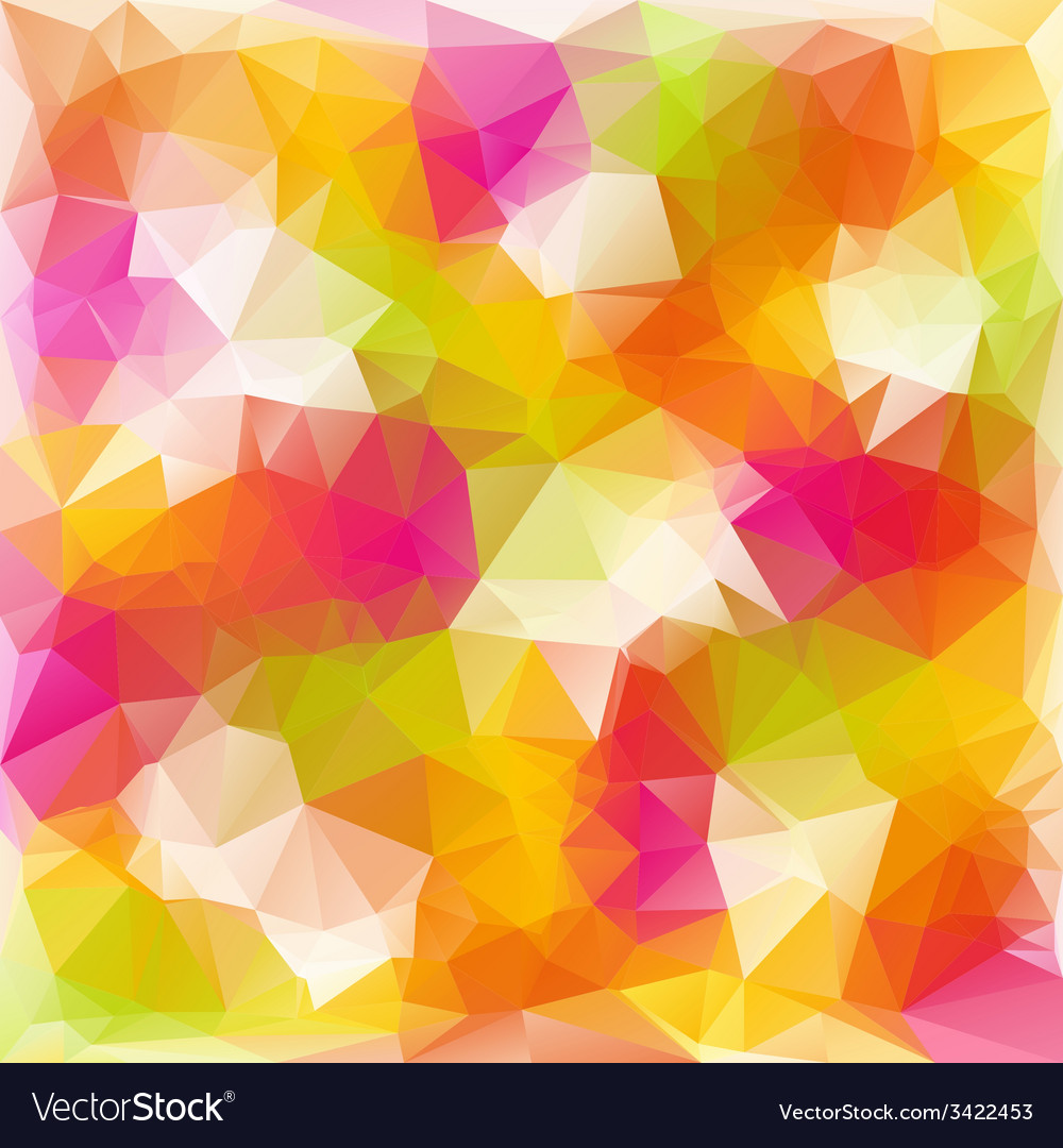 Full color spring polygonal triangular pattern