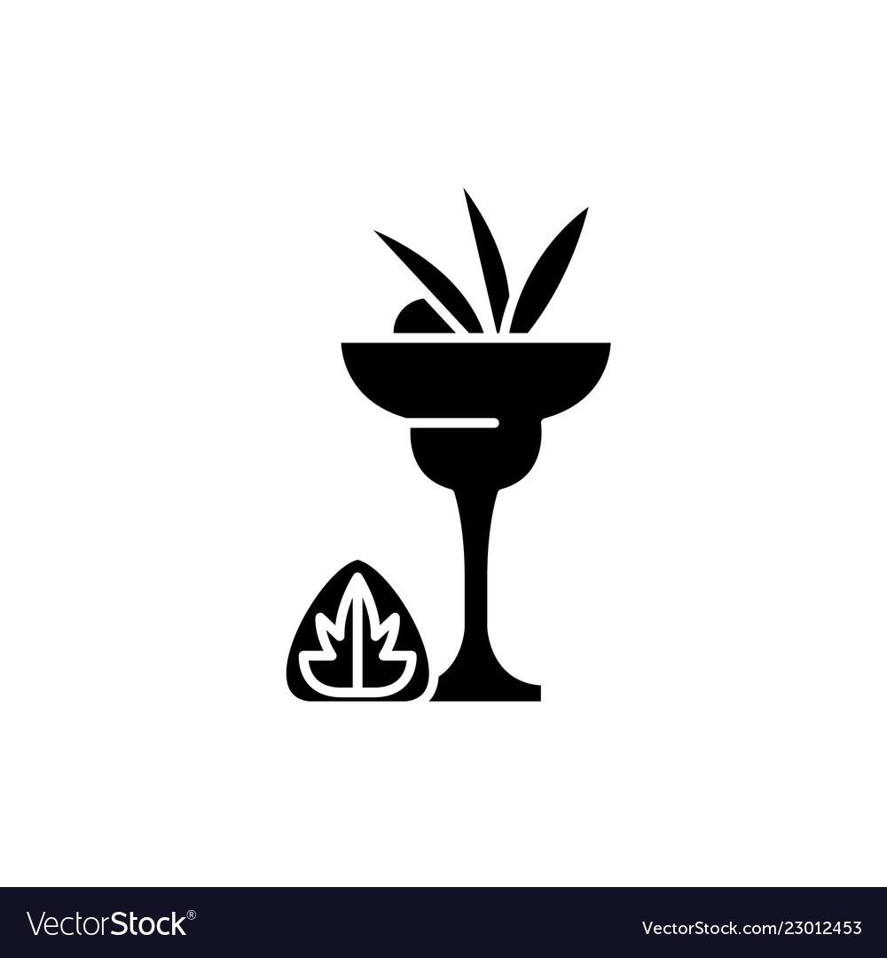 Liquor black icon sign on isolated