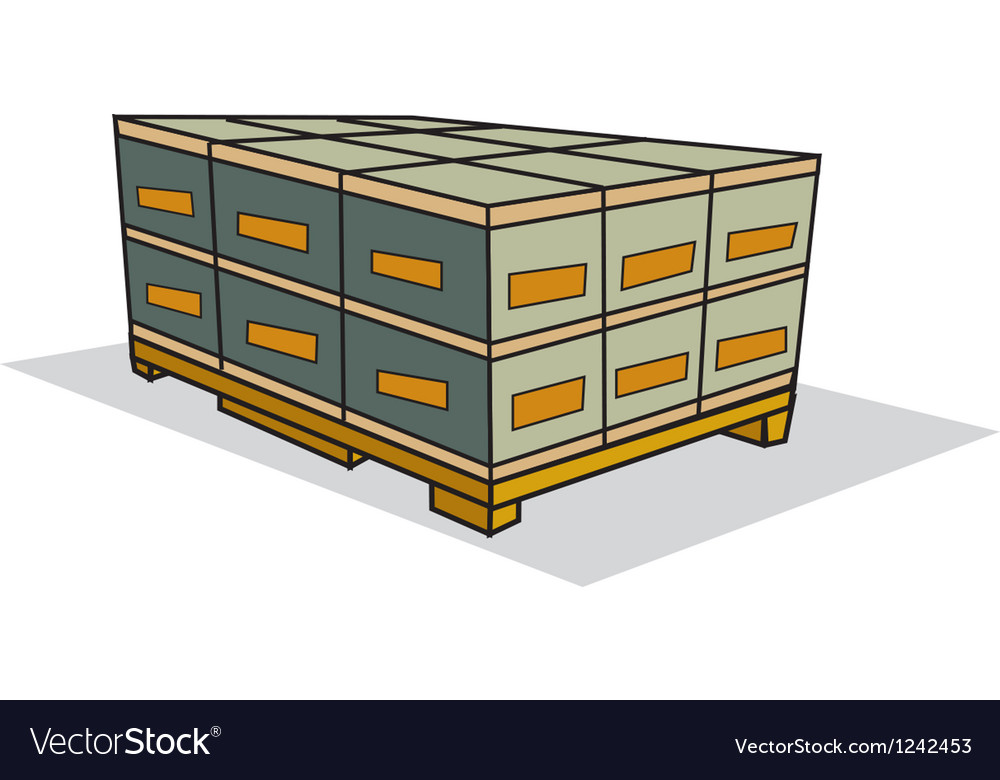 Pallet of boxes