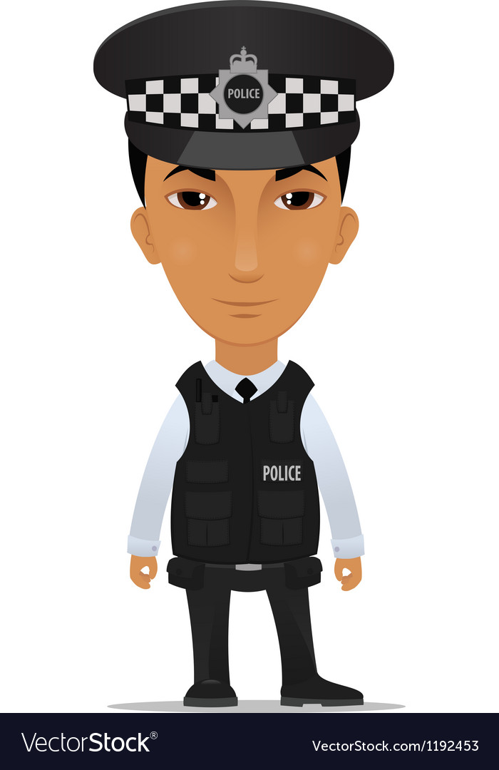 Police officer uk vector image