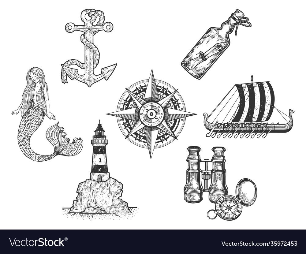 Sea set sketch